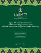 Cover of Spousal Gender-Based Violence and Women's Empowerment in the 2010-11 Zimbabwe Demographic and Health Survey (English)