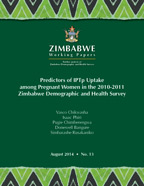 Cover of Predictors of IPTp Uptake among Pregnant Women in the 2010-11 Zimbabwe Demographic and Health Survey (English)