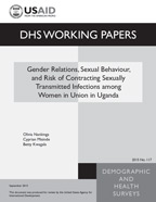 Cover of Gender Relations, Sexual Behaviour, and Risk of Contracting Sexually Transmitted Infections among Women in Union in Uganda (English)