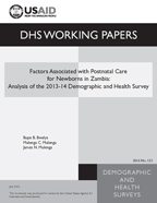 Cover of Factors Associated with Postnatal Care for Newborns in Zambia: Analysis of the 2013-14 Demographic and Health Survey (English)