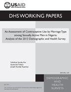 Cover of An Assessment of Contraceptive Use by Marriage Type among Sexually Active Men in Nigeria: Analysis of the 2013 Demographic and Health Survey (English)