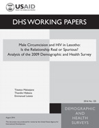 Cover of Male Circumcision and HIV in Lesotho: Is the Relationship Real or Spurious? Analysis of the 2009 Demographic and Health Survey (English)
