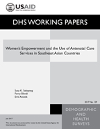 Cover of Women's Empowerment and the Use of Antenatal Care Services in Southeast Asian Countries (English)