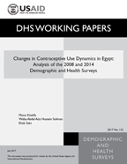 Cover of Changes in Contraceptive Use Dynamics in Egypt: Analysis of the 2008 and 2014 Demographic and Health Surveys (English)