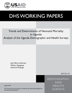 Cover of Trends and Determinants of Neonatal Mortality in Uganda: Further Analysis of the Demographic and Health Surveys (English)