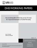 Cover of Accumulating Birth Histories across Surveys for Improved Estimates of Child Mortality (English)