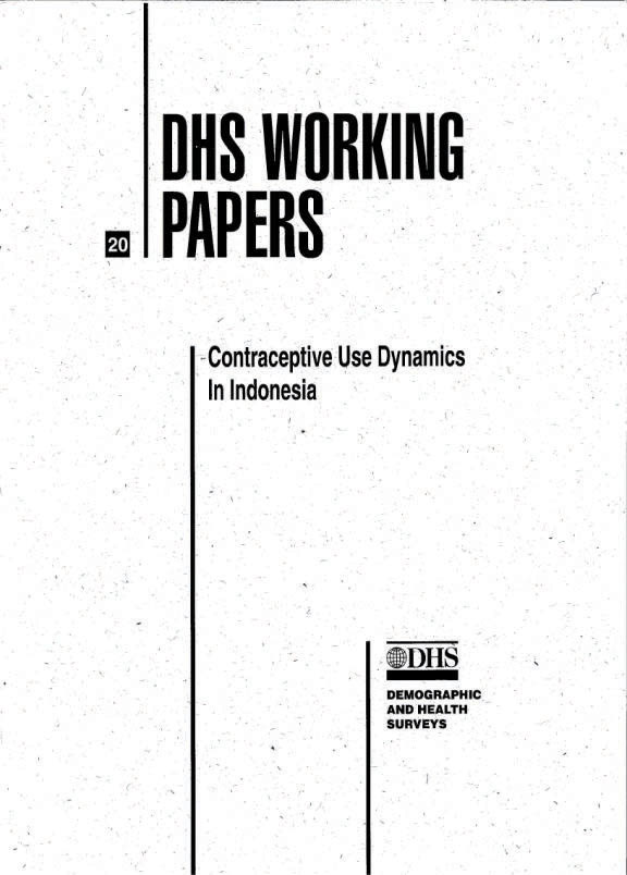 Cover of Contraceptive Use Dynamics in Indonesia (English)
