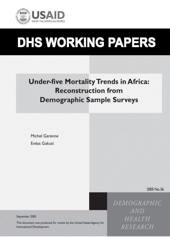 Cover of Under-five Mortality Trends in Africa: Reconstruction from Demographic Sample Surveys (English)
