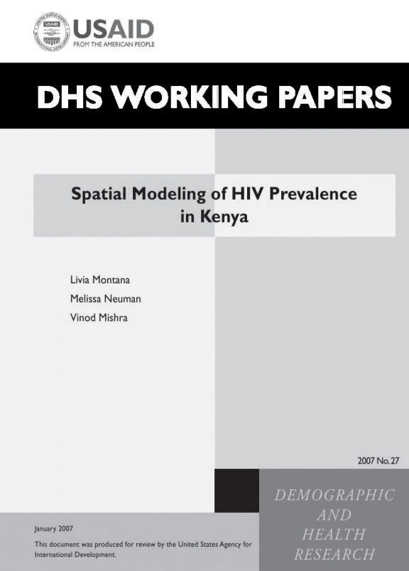 Cover of Spatial Modeling of HIV Prevalence in Kenya (English)