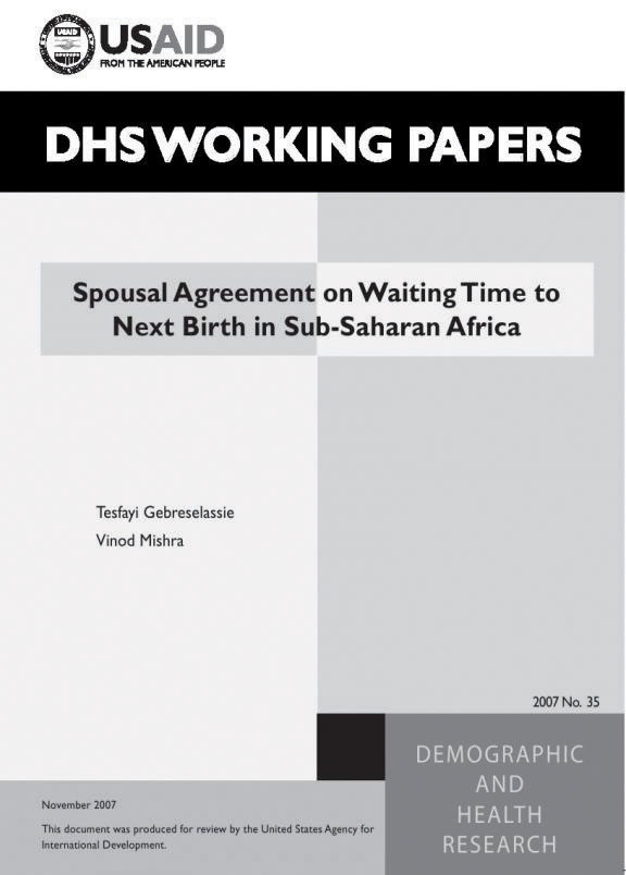 The dhs program spousal agreement on waiting time to next birth in the dhs program spousal agreement on waiting time to next birth in sub saharan africa english 728 platinumwayz