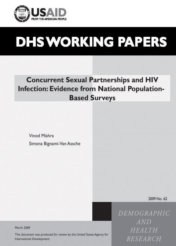 Cover of Concurrent Sexual Partnerships and HIV Infection: Evidence from National Population-Based Surveys (English)