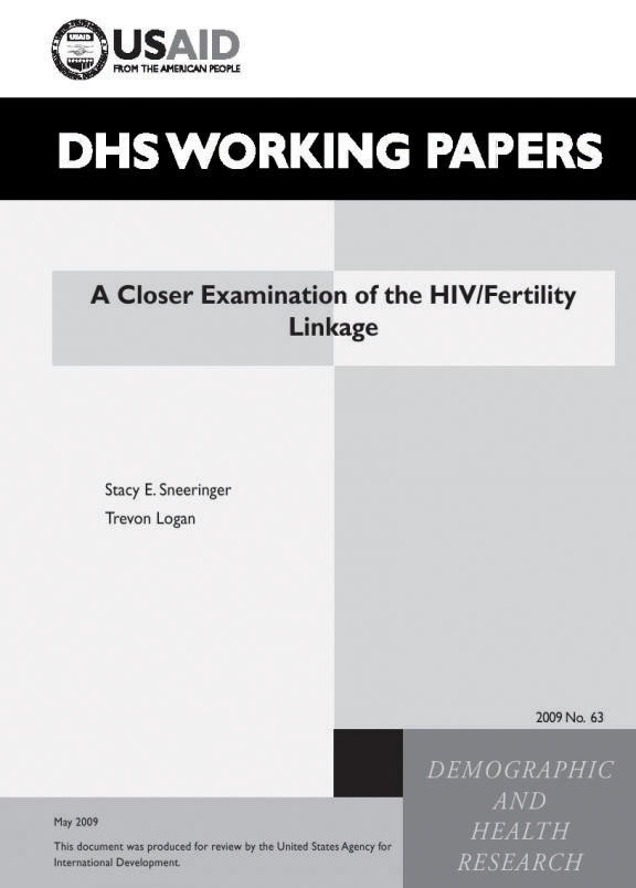 Cover of A Closer Examination of the HIV/Fertility Linkage (English)