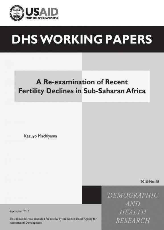 Cover of A Re-examination of Recent Fertility Declines in Sub-Saharan Africa (English)