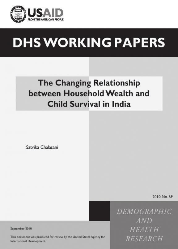 Cover of The Changing Relationship between Household Wealth and Child Survival in India (English)