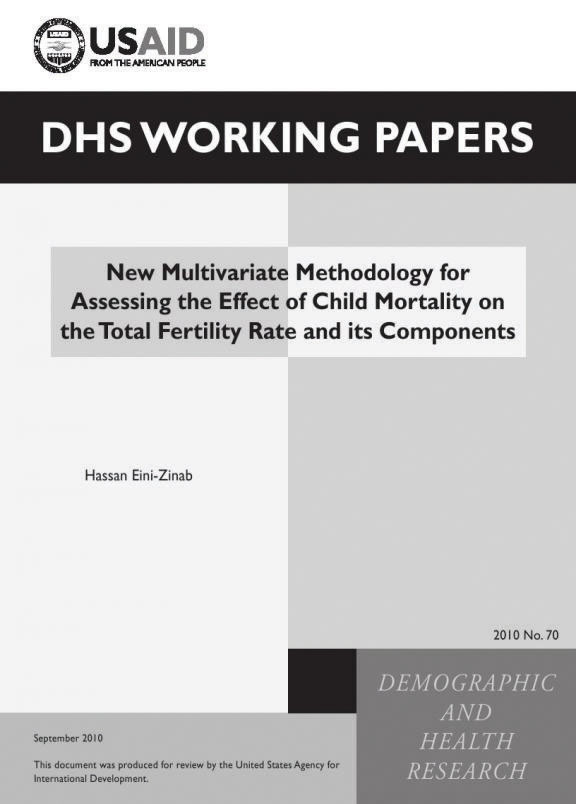 Cover of New Multivariate Methodology for Assessing the Effect of Child Mortality on the Total Fertility Rate and its Components (English)