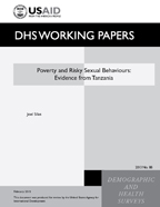 Cover of Poverty and Risky Sexual Behaviours: Evidence from Tanzania (English)