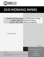 Cover of Trends and Determinants of Malnutrition among Children Age 0-59 Months in Kenya (KDHS 1993, 2003 and 2008-09) (English)
