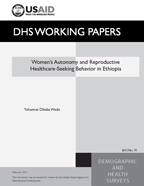 Cover of Women's Autonomy and Reproductive Healthcare-Seeking Behavior in Ethiopia (English)