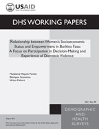 Cover of Relationship between Women's Socioeconomic Status and Empowerment in Burkina Faso: A Focus on Participation in Decision-Making and Experience of Domestic Violence (English)