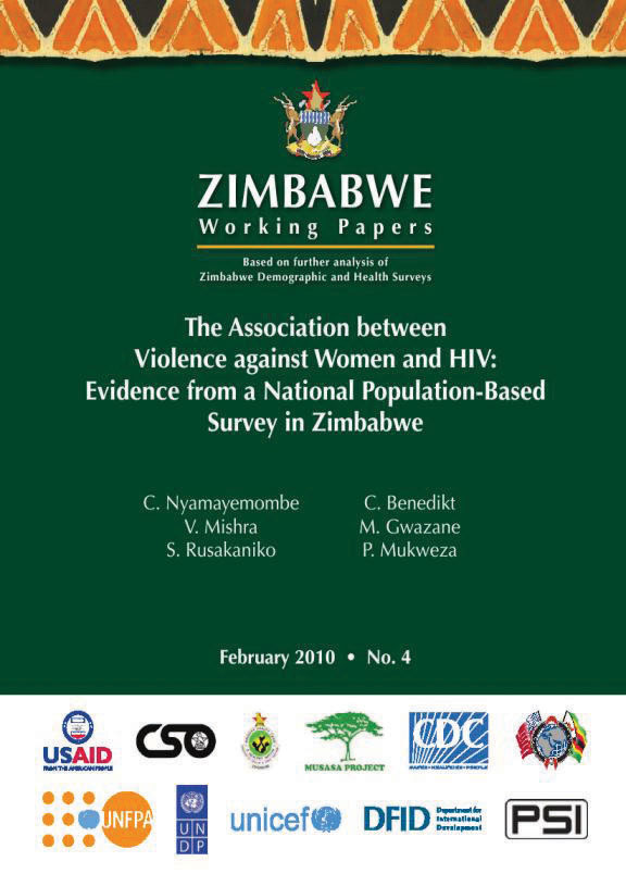 Cover of The Association between Violence against Women and HIV: Evidence from a National Population-Based Survey in Zimbabwe (English)
