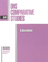 DHS Comparative Studies 29 - Education