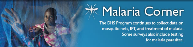 The DHS Program continues to collect data on mosquito nets, IPT, and treatment of malaria. Some surveys also include testing for malaria parasites.